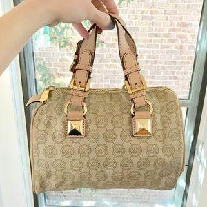 Michael Kors Signature Leather Canvas Handbag!